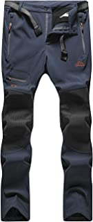DENGBOSN Pantalones de Montaña Hombre Impermeables Invierno