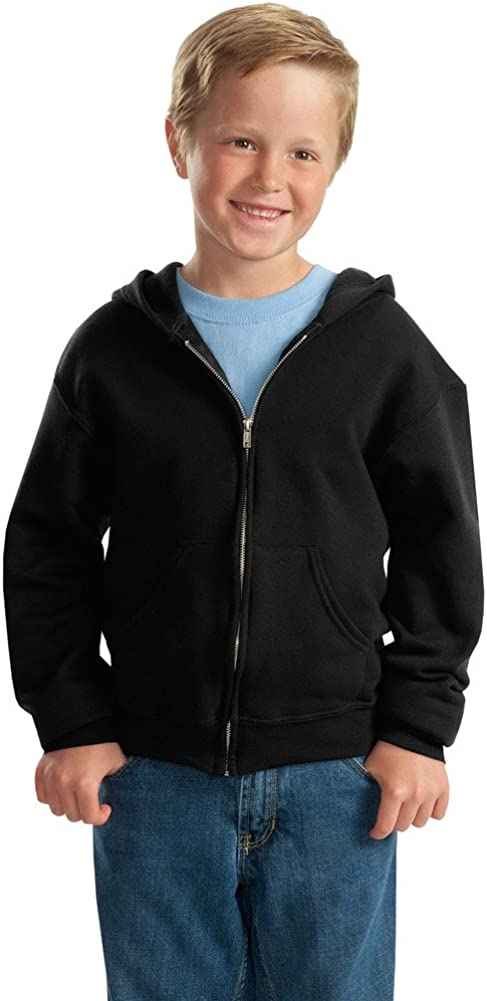 Jerzees Boys NuBlend Full-Zip Hooded Sweatshirt