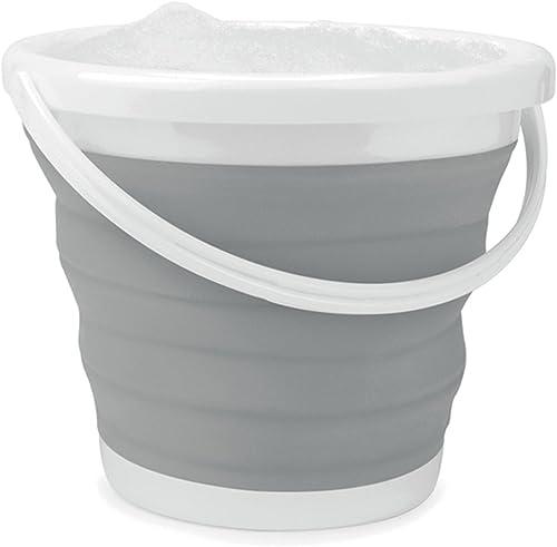 Beldray® LA028495GRY Godet Pliable   10 litres   Design Compact pour Un Gain de Place   idéal pour Le Nettoyage intér...