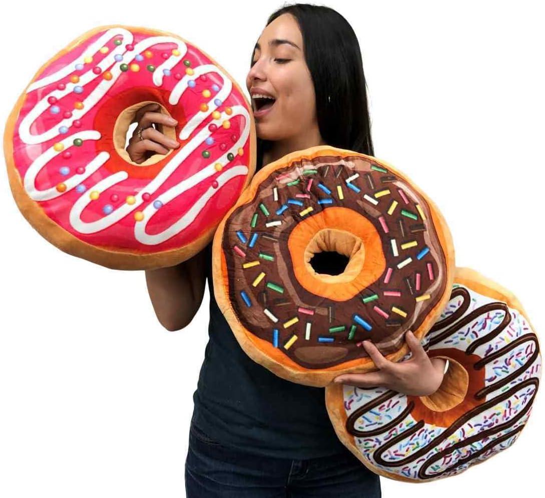 Set of 3 Big Plush Donuts 初回限定 Huge 18 inches Choc 商舗 Squishy cm Soft 45