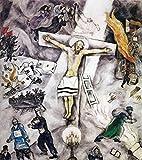 Marc Chagall – Weißes Kreuz, Größe 61 x 71,1 cm,