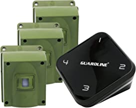 1/4 Mile Long Range Wireless Driveway Alarm w/Three Sensors Kit Outdoor Weather Resistan Motion Sensor/Detector- Best DIY Security Alert System- Protect Home, Perimeter, Yard, Garage, Pool