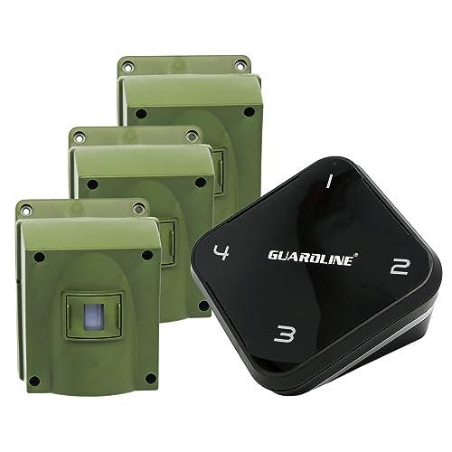 1/4 Mile Long Range Wireless Driveway Alarm w/Three Sensors Kit Outdoor Weather