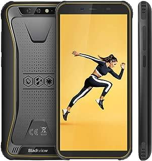 Blackview BV5500 スマートフォン SIMフリースマートフォン本体 3Gスマホ本体 Android 8.1 5.5インチ 4400mAh大容量バッテリー 顔認証 アウトドア 防水/防塵/耐衝撃 技適認証済み 携帯電話 1年間保証付き イエロー