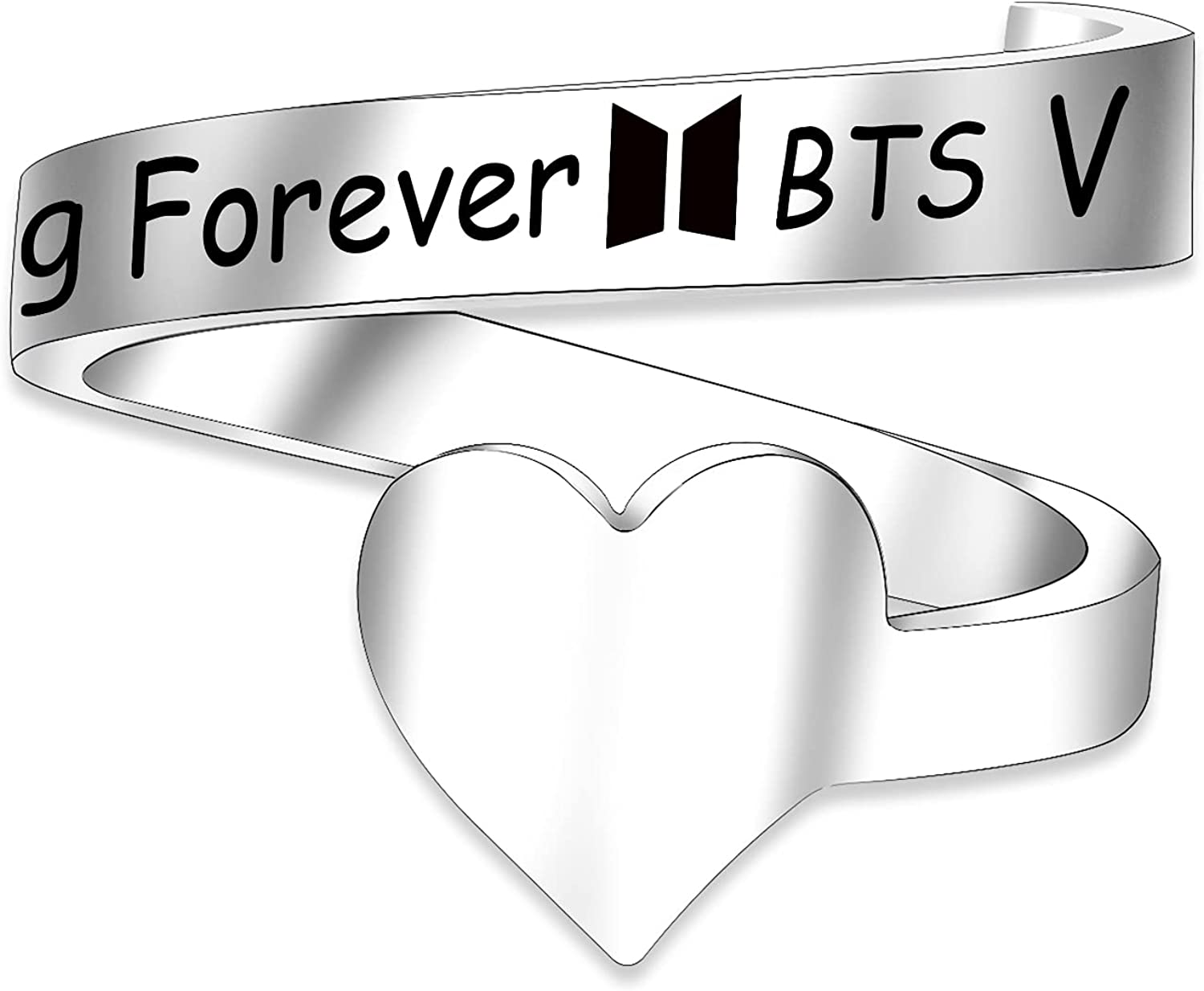 G-Ahora Bangtan Boys Rings Young Jewelry Max 72% OFF Girls for Factory outlet