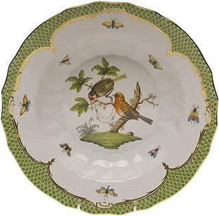 Herend Rothschild Bird Green Porcelain Rim Soup Motif #10