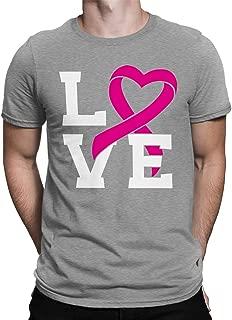 SpiritForged Apparel Love Pink Ribbon Breast Cancer Awareness Men's T-Shirt