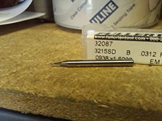 Fullerton Tool 92272 4.50mm 4 Flute Solid Carbide TiAlN Ball End Mill