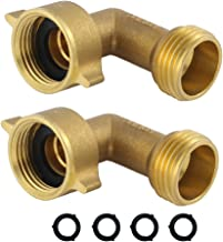 HQMPC Garden Hose Elbow Connector 90 Degree Brass Hose Elbow (2Pcs)+ Extra 4 Pressure Washers