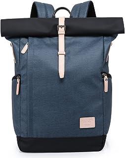 Roll top Mochila Deportiva para Hombre Mujer - Backpack Impermeable Separación de Seco y Húmedo, Daypack Escolar Antirrobo Top Roll de Moda, Cabe Laptop 15.6