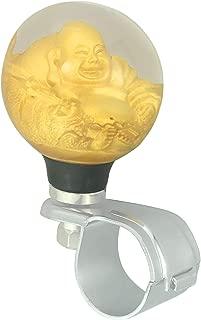 Bashineng Car Steering Wheel Assist Ball Round Power Handle Control Spinner Knob (Gold)