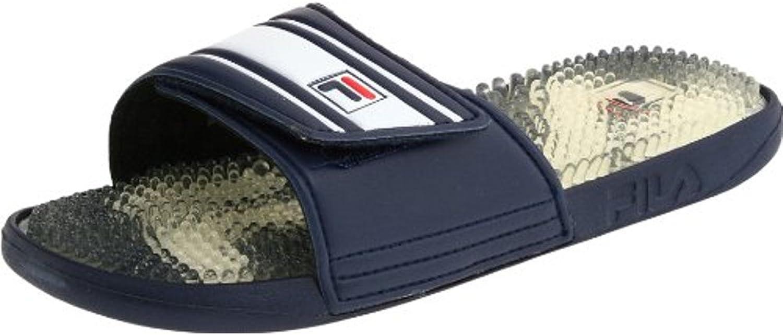 Fila Men's Massaggio Slippers Casual Seals, Navy, Rubber, 9 M