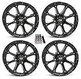 STI HD4 UTV Wheels/Rims Black 14' Polaris RZR 1000 XP/Ranger XP 900/1000