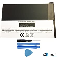 MPF Products 6741mAh A1512 Battery Replacement Compatible with Apple iPad Mini 2 A1489, A1490, A1491 & Apple iPad Mini 3 A1599, A1600, A1601 with Installation Tools
