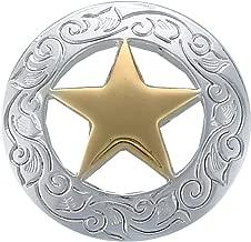 "Y Cross Brand 1-1/2"" Ranger Star Concho"