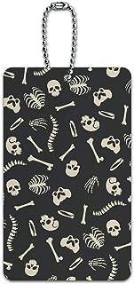 Skeleton Skull Bones Rib Cage and Femur Pattern Luggage Card Carry-On ID Tag