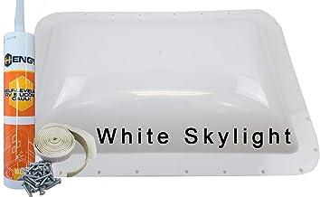 Class A Customs Premium Heavy Duty RV Camper Trailer Skylight - 18 x 26 OD / 14 x 22 ID White - Install Kit PCS