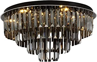 Ceiling Lighting LED Ceiling Lamp Bedroom Round Chandelier Living Room Lighting Wedding Room Warm Romantic Crystal Lamps (...