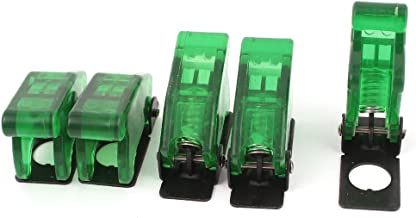 5Pcs Green Waterproof Toggle Switch Cover Flip Safety Cap Guard 12mm