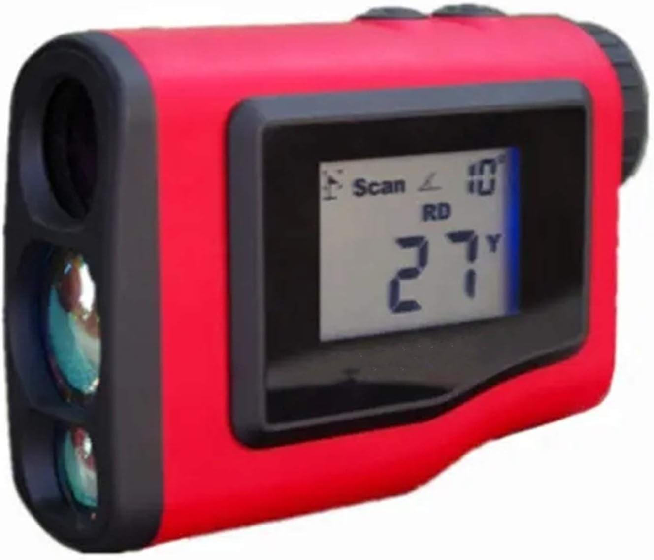 CuteLife Telémetro de Golf LCD Impermeable 600m GRANERA DE Golf CORMA DE GOLFIANDO Ángulo de Golf Distancia Golf Medidor Mensión Monocular Telescopio Caza Gama para la Caza con Arco