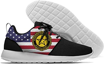 ZETARUN American Legion Auxiliary Men's Lightweight Sports Running Shoes Mesh Breathable Sneakers