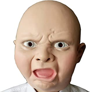 FAMI Latex Novelty Halloween Baby Face Head Mask