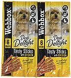 PET-573780 Palos de carne Webbox Perros Delight (6pk) 12 Paquete