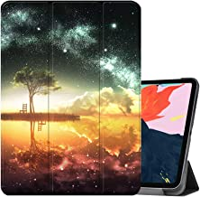 MTAOTAO for New iPad Pro 12.9 2018 Cover,[Support Apple Pencil Charging] Trifold PU Leather Stand Smart Protective Shell Cases for Apple iPad Pro 12.9 inch 2018 Release with Auto Wake/Sleep,Anime Sky