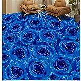 Selbstklebende Boden Malerei Café Bar Gästezimmer Badezimmer Wohnzimmer Schlafzimmer Kann Angepasst Werden Blaue Rose Wohnwand 250 Cm (L) X 180 Cm (B)