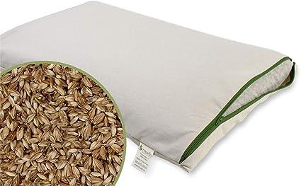 Cuscino Ai Semi Di Farro 40 X 60 Cm 100 Spelta Di Farro Bio Con Fodera Rimovibile E Lavabile In 100 Cotone Biologico Amazon It Prima Infanzia