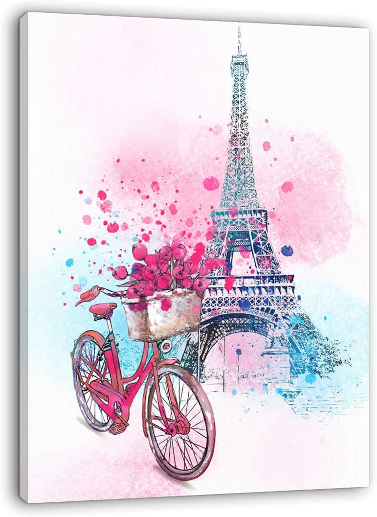 Paris Wall Decor Pink Art Eiffel Bedroom Girls To Max 42% OFF for Time sale
