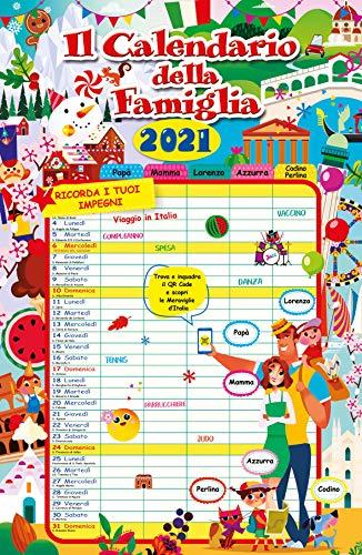 Euro Publishing Calendario Agenda Famiglia 2021 Cm 29 X 44
