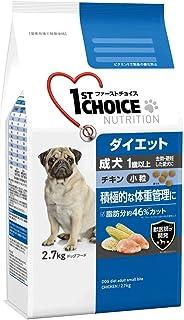 ファーストチョイス ドッグフード 成犬 1歳以上 ダイエット 去勢・避妊した愛犬 小粒 チキン 2.7kg