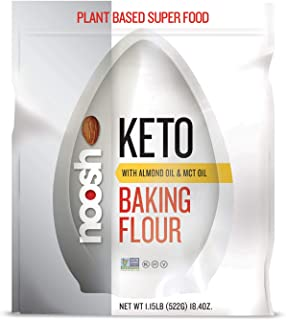 NOOSH KETO 1 to 1 All Purpose Almond Flour with Almond Oil powder & MCT Oil powder 1.15 lb - Naturally Sourced Ingredients, Vegan, Gluten Free, Non GMO, Kosher - Made from Whole California Almonds