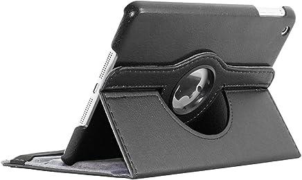 ebestStar - Compatible Coque iPad Mini 1/2/3 Apple Housse Protection Etui PU Cuir Support Rotatif 360, Noir [Appareil: 200 x 134.7 x 7.2/7.5mm, 7.9'']