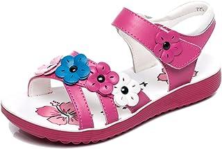 579386a016ff Mobnau Cute Floral Anti-Skid Leather Summer Girls Sandals Sandles