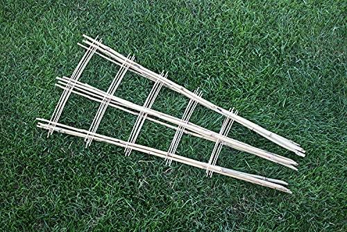 Tinobu Rankhilfe aus Bambus deko, Klettergerüst aus Holz, Bambusspalier, Gitterspalier V-Form, Rankgitter für Balkon und Kletterpflanzen, Maße: ca. B 12-33 cm x H 85 cm (5)
