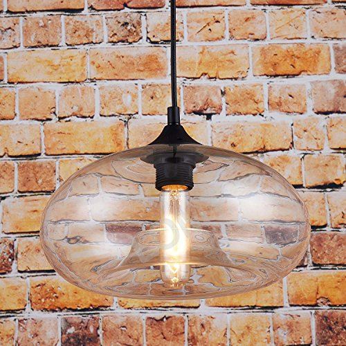 Suspension en verre style vintage - Transparent