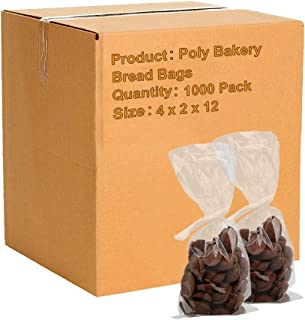 APQ Pack of 1000 Gusseted Poly Bags 4 x 2 x 12. Clear Polyethylene Bags 4x2x12. FDA, USDA Approved 2 Mil. Expandable Side Gusset Bags. Open Ended Bags for Industrial, Food Service, Healthcare Needs.