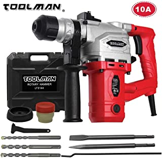 Lion Tools LT3144 Toolman Electric Power Rotary Hammer Drill Driver 10 Amp For Heavy Duty Corded works with DeWalt Makita Ryobi Accessories