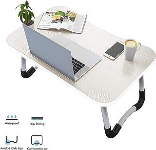 comprar comparacion Vasen Mesa Ordenador Portátil Plegable Mesa para portátil Mesa Cama Ergonómico Bandeja para Desayuno 60 x 40 cm (Blanco)