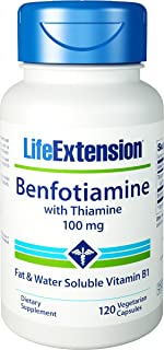 Life Extension - Benfotiamine with Thiamine - 100 Mg - 120 Caps (Pack of 3)