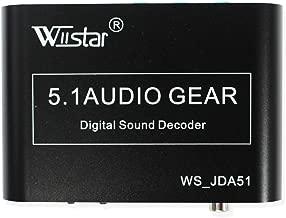 Wiistar 5.1 Channel AC3/DTS Audio Gear Digital Surround Sound Rush Decoder HD Player with USB Port
