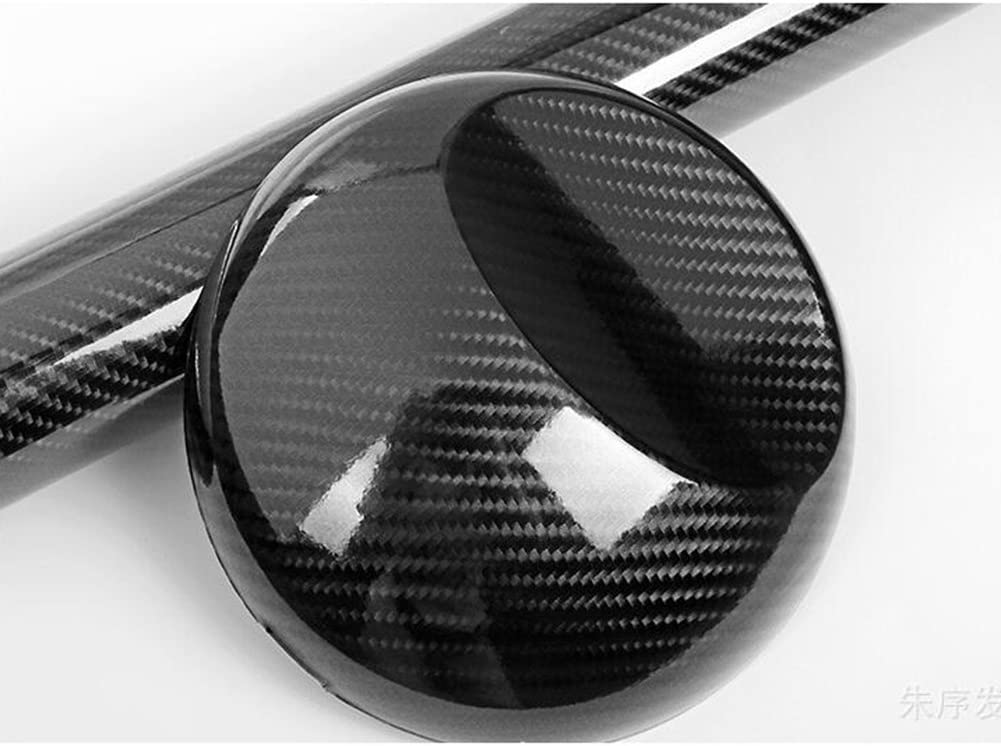 HOHO 60x12 Black 5D Glossy Carbon Fiber Wrap Vinyl Decal Film Sticker Air Release for Car Body