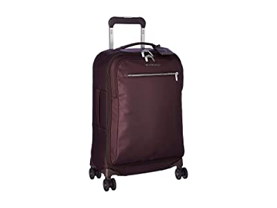 Briggs & Riley Tall Domestic Carry-On Spinner (Plum) Carry on Luggage