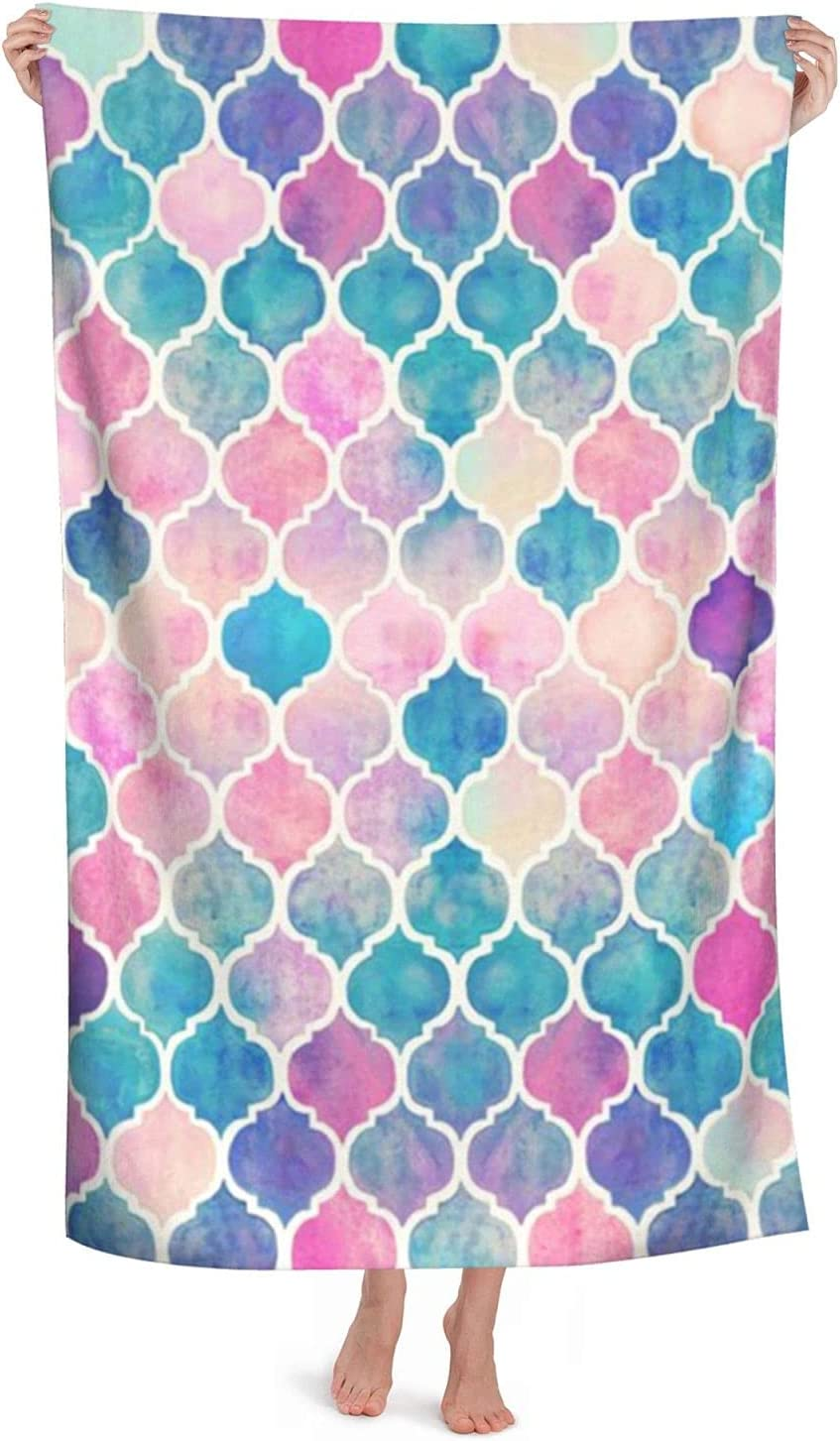 Rainbow Pastel Watercolor Financial sales sale Beach Towels - 2021 autumn and winter new To Dry Pool Quick Large