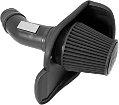 K&N Cold Air Intake Kit with Washable Air Filter:  2011-2019 Dodge/Chrysler (Charger, Challenger, 300) 6.4L V8, Blackhawk Finish w/ dry black filter, 71-2545