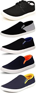 Maddy Perfect Combo Pack of 5 Loafer Shoes for Men's in Various Sizes