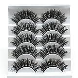 5 Pairs Faux 3D Mink Lashes Multipack,False Eyelashes Natural Soft False Eyelashes Pack for Makeup Eyelashes Extension(3D03)