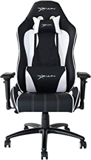 Ewin Gaming Chair Champion Series 4D Adjustable Armrests Memory Foam Ergonomic High-Back PU Leather Racing Executive Computer Office Chair CPB-White